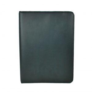 Luxusná elegantná kožená spisovka č.7673 v čiernej farbe