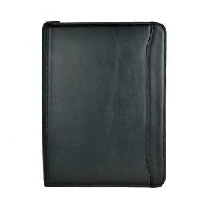 Módna kožená spisovka č.7987 v čiernej farbe VEGALM
