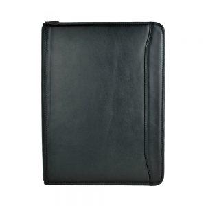 Módna kožená spisovka č.7988 v čiernej farbe