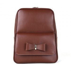 Módny kožený ruksak z pravej hovädzej kože č.8666 v hnedej farbe