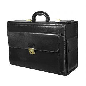 Cestovný kufor č.8174 bez mechaniky v čiernej farbe.