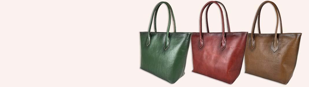 Ručne farbené kožené kabelky