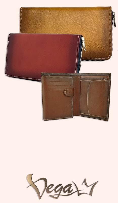 farebné peňaženky z pracej kože
