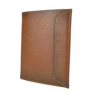 Koženýpracovný zápisník A5, ručne tieňovaný vo svetlo hnedej farbe