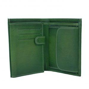 Luxusná kožená peňaženka č.8560 v zelenej farbe (3) - kópia