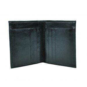 Kožená dokladovka č.8194 v čiernej farbe vyrobená na Slovensku