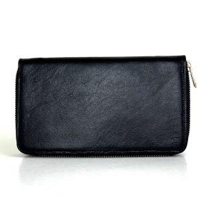 Dámska nákupná kožená peňaženka č.8606 v čiernej farbe